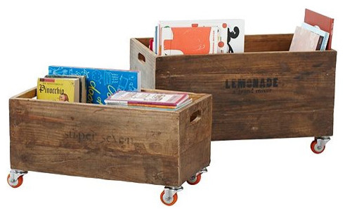 Rolling Storage Crates traditional-toy-storage
