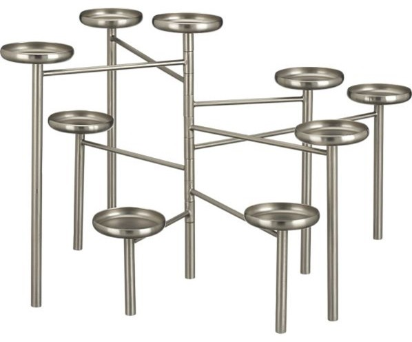 Pewter Fireplace Candelabra Modern Candleholders By Crate Barrel