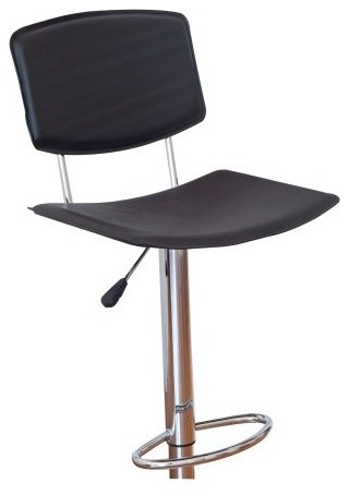 Winsome Wood Adjustable Single L-Back Air Lift Swivel Bar Stool modern-bar-stools-and-counter-stools