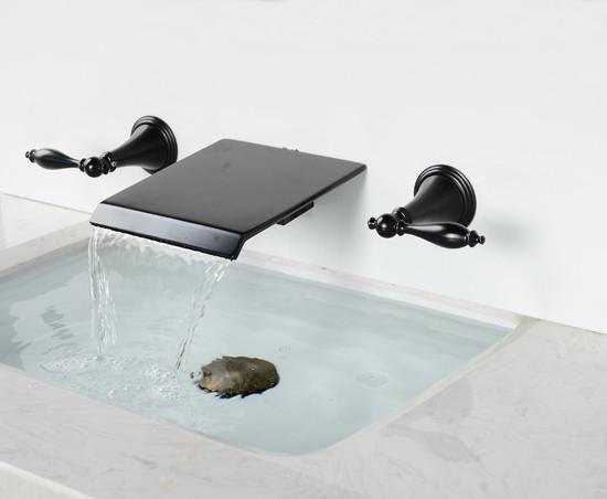 widespread bathroom bathtub faucet oil rubbed bronze tropical-bathroom-faucets