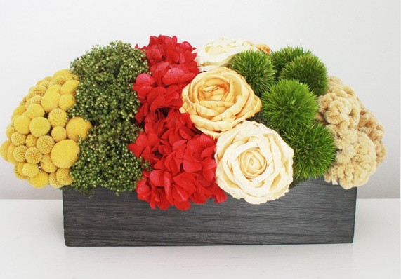 Dried Flower Arrangement by Flores del Sol contemporary plants