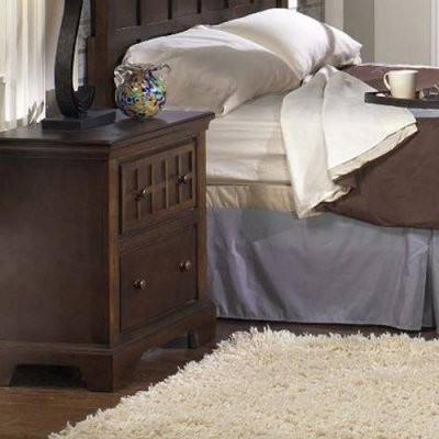 Progressive Furniture Casual Traditions 2 Drawer Nightstand - Walnut modern-nightstands-and-bedside-tables