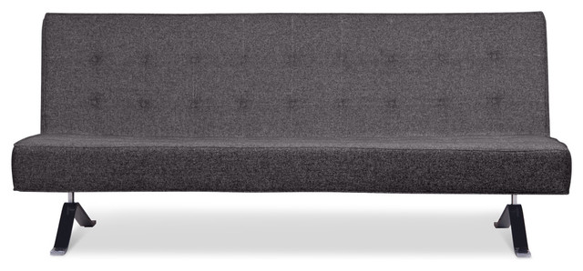 Wave Two Mottled-Grey Sleeper Couch contemporary-sofas