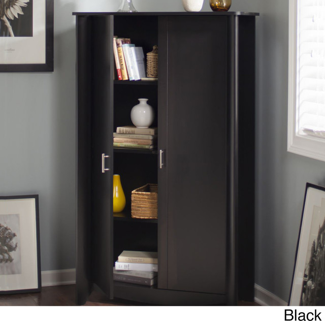 Bush Furniture Aero 2-door Tall Storage Cabinet - Contemporary - Storage Cabinets - by Overstock.com
