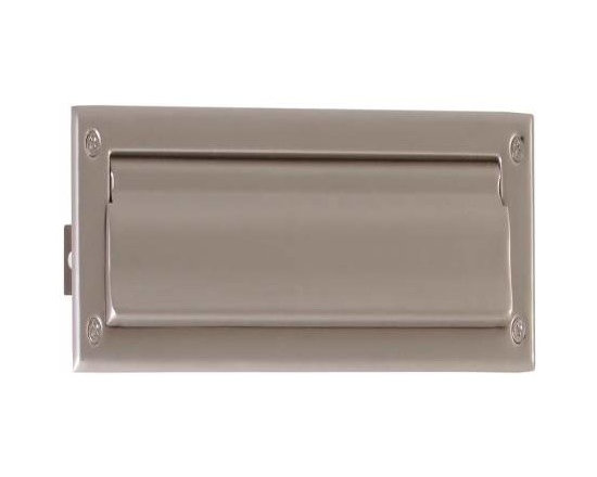 Brass Accents - Brass Accents Mail Slot, 13 X 3 5/8 Inch, Satin Nickel A07-M0010-619 - Brass Accents Mail Slot, 13 X 3 5/8 Inch, Satin Nickel