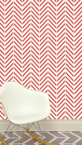 """24"""" x 48"""" Deconstructed Herringbone Removable wall paper tile - Wall Paper  Ask, modern-wallpaper"""
