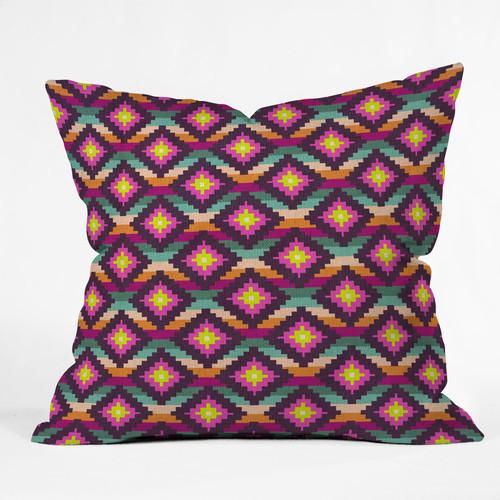 Modern Aztec Pillows : Bianca Green Aztec Diamonds Hammock Throw Pillow - Modern - Decorative Pillows - by AllModern