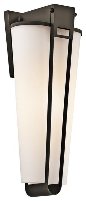 "Contemporary Kichler Coturri 19 1/2"" High Olde Bronze Outdoor Wall Sconce contemporary-outdoor-lighting"