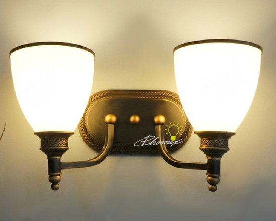 2 head up and Down Wall lamp - Size: L38cm X W18cm X23cm