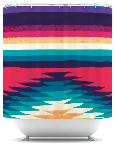 Shower Curtain, Surf by Kess in House - contemporary - shower