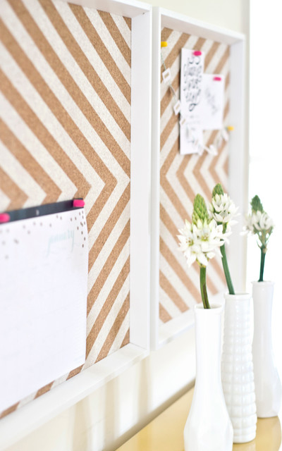 Ikea frames to chevron cork board for Ikea cork board