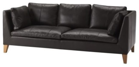 Ikea Stockholm Sofa, Elegant Dark Brown modern-sofas