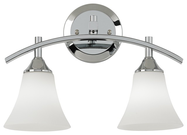 Curve Collection 14 3 4 Wide Chrome Bathroom Light Contemporary Bathroom Vanity Lighting