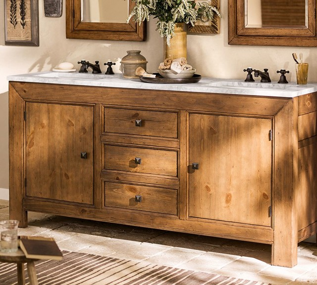 Barn Style Sink : ... Double Sink Console traditional-bathroom-vanities-and-sink-consoles