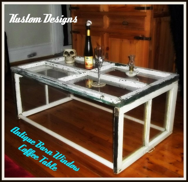 Eclectic Coffee Tables: Antique Window Coffee Table