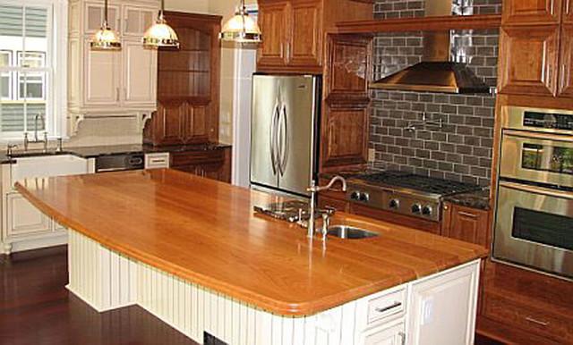 Cherry Kitchen Island Counter With Sink
