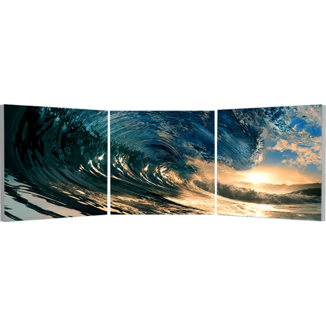 Elementem Photography The Wave Triptych Wall Art contemporary-artwork
