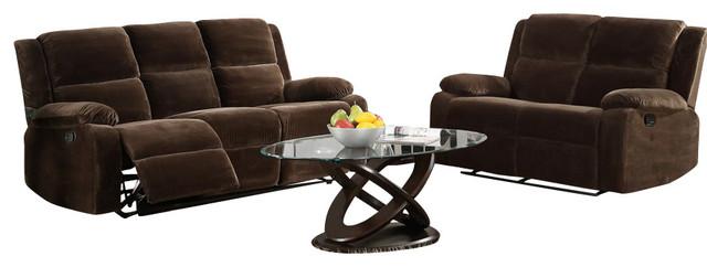 Homelegance Snyder 5-Piece Living Room Set in Coffee Microfiber traditional-furniture
