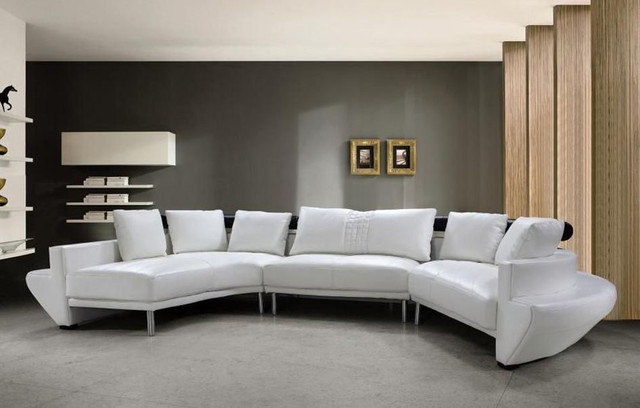 Advanced Adjustable Covered In All Leather Sectional With