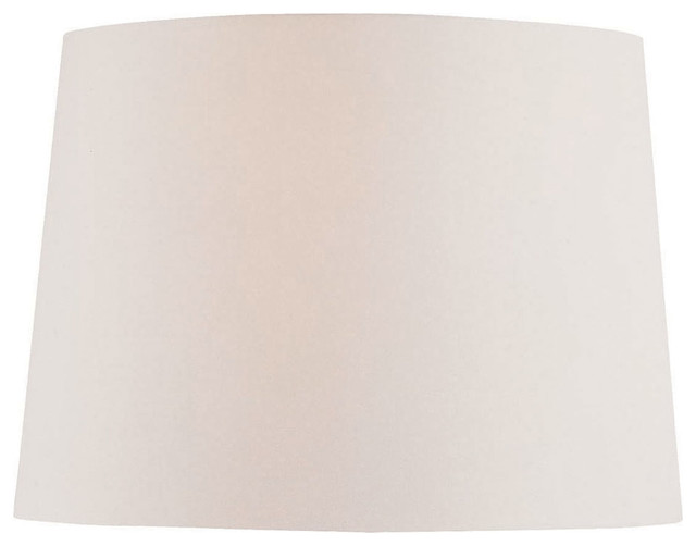 Off White Fabric Shade - 14Tx16Bx12Sl traditional-lamp-shades