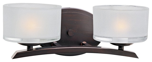 Contemporary Maxim Elle Collection Bronze 2 Light Wall Sconce contemporary-bathroom-lighting-and-vanity-lighting