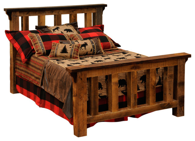 Barnwood post bed reclaimed rustic wood king size rustic beds
