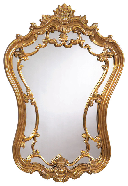 Antique Gold Victorian Wall Mirror Traditional Mirrors