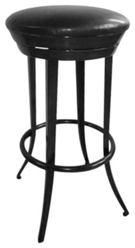 Cater to your inner modern minimalist. The 29-in. Colby Swivel Bar Stool - Black contemporary-bar-stools-and-counter-stools