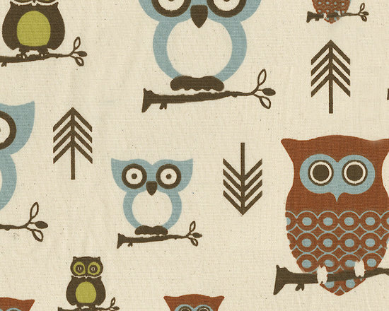Retro Owls Fabric - I would love to use this fabric on a pillow for a neutral rocker or on the bumper in a crib. A bonus is that it's gender neutral.