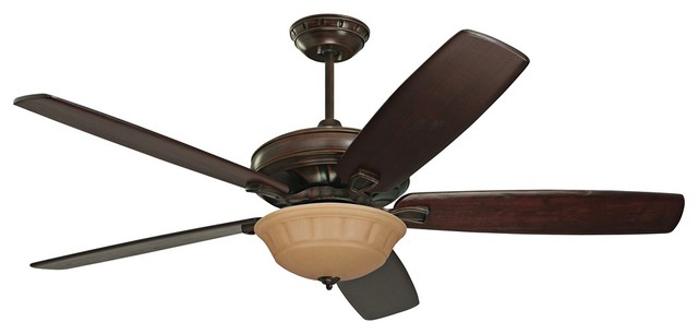 "Traditional 60"" Emerson Carrera Grande Amber Venetian Bronze Ceiling Fan traditional-ceiling-fans"