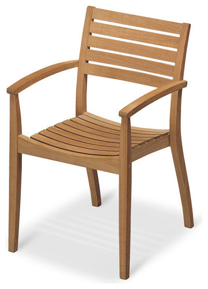 Ballare Chair Teak Contemporary Outdoor Dining Chairs by Danish Design