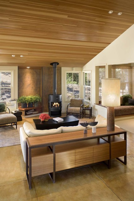 House in Santa Lucia Preserve contemporary-living-room