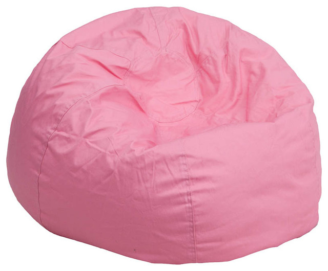 Oversized solid light pink bean bag chair contemporary for Oversized kids chair