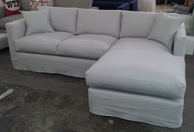 Custom Slipcover Sectional eclectic sectional sofas los angeles