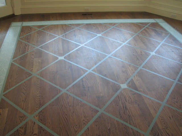 Painted Floor Rug Pattern Traditional New York By