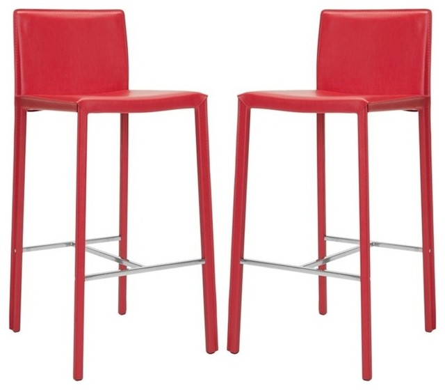 Safavieh Enzo 30quot Bar Stool in Red Set Of 2  : contemporary bar stools and counter stools from houzz.com size 640 x 560 jpeg 41kB
