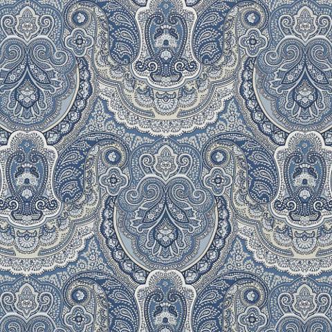 Crayford Paisley – Porcelain Wallypaper mediterranean-wallpaper