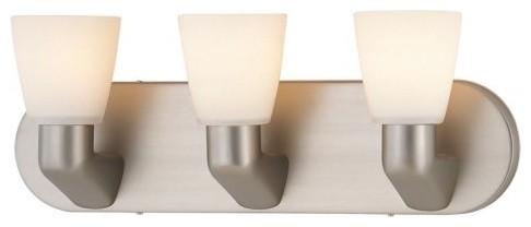 Lite Source LS-16833SS/FRO Taza 3-Lite Vanity Wall Lamp contemporary-bathroom-vanity-lighting