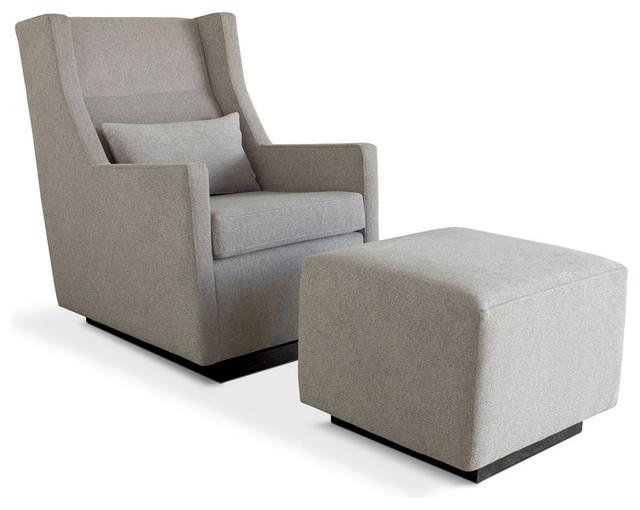 Modern sparrow glider baldwin mist modern rocking chairs and gliders
