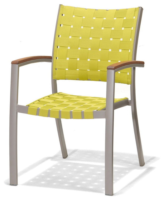 Patio by jamie durie peninsula outdoor dining chair green for Modern outdoor dining chairs