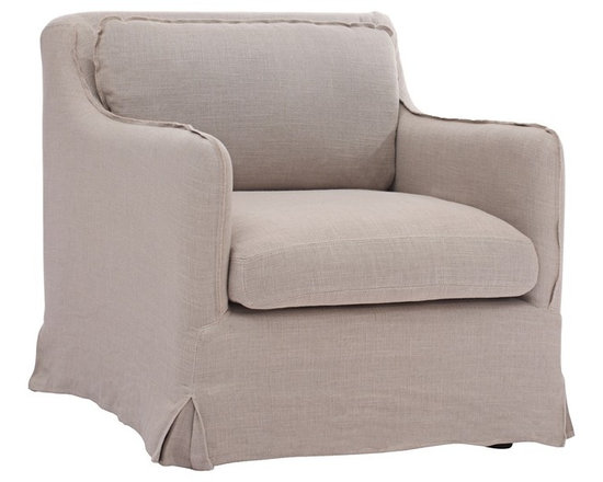 """Zuo - Zuo Pacific Heights Beige Armchair - Casual yet sophisticated overstuffed armchair. European-inspired low to the ground sleekly streamlined style. Soft beige linen fabric. A chic addition to your home from Zuo Modern. 28 3/4"""" wide. 33 1/2"""" deep. 29 1/2"""" high. Seat is 23"""" wide and 30"""" deep. Seat is 17 1/2"""" high. Fully assembled.  Casual yet sophisticated overstuffed armchair.  European-inspired low to the ground sleekly streamlined style.  Soft beige linen fabric.  A chic addition to your home from Zuo Modern.  28 3/4"""" wide.  33 1/2"""" deep.  29 1/2"""" high.  Seat is 23"""" wide and 30"""" deep.  Seat is 17 1/2"""" high.  Fully assembled."""