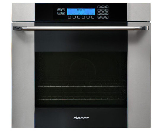 "Dacor Discovery 30"" Single Wall Oven, Stainless w/ Black Glass 