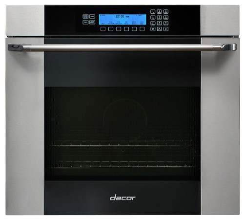 """Dacor Discovery 30"""" Single Wall Oven, Stainless w/ Black Glass   MOV130S ovens"""