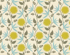 Thomas Paul Fabric: Dahlia/Aegean eclectic upholstery fabric