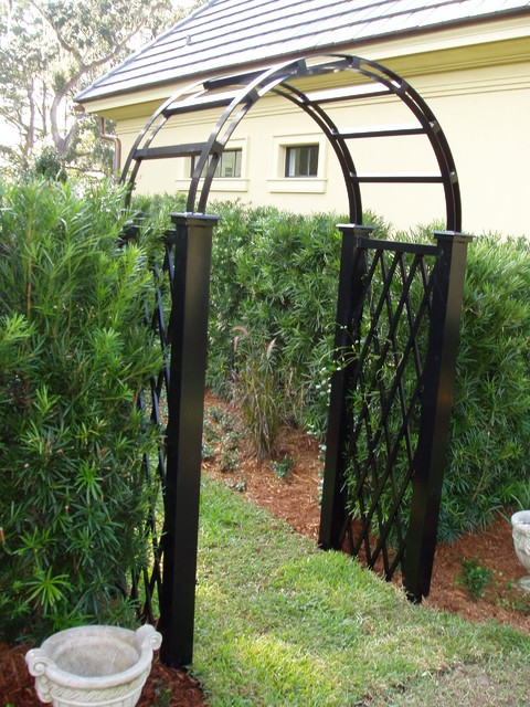 Aluminum Trellis Arbor Traditional Pergolas Arbors And