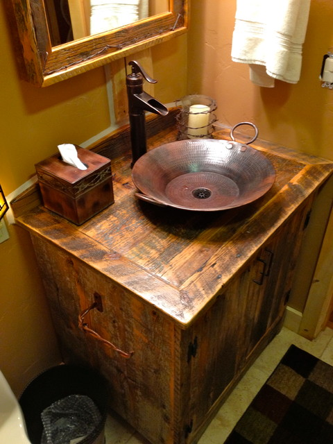 Rustic Furniture Portfolio Rustic Bathroom Vanities And Sink Consoles O