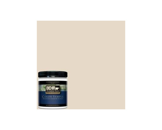 "BEHR Premium Plus 8 Oz. Antique White Interior/Exterior Paint Tester - We all know that light colors make rooms feel bigger, but aren't you a bit tired of the ""old"" white? This one is a new white with a twist."