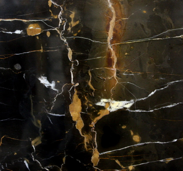 Onyx Slabs Seattle : Black gold marble vanity tops and side splashes