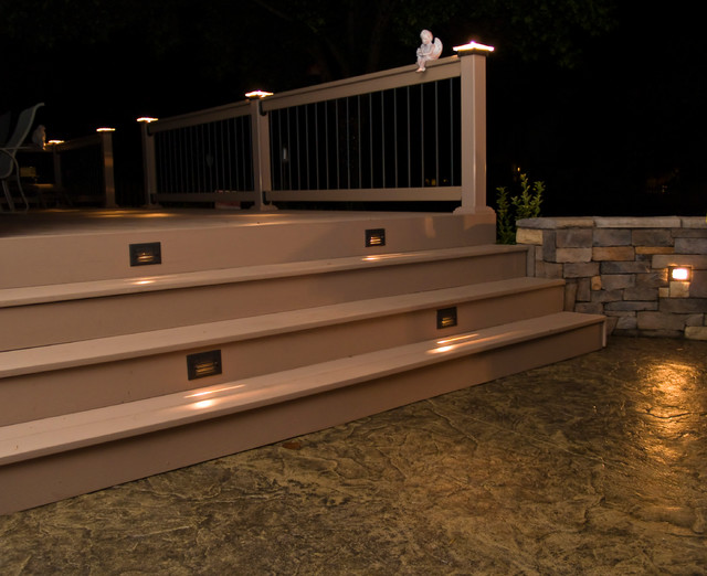 deck lighting lighted post caps traditional lighting kansas