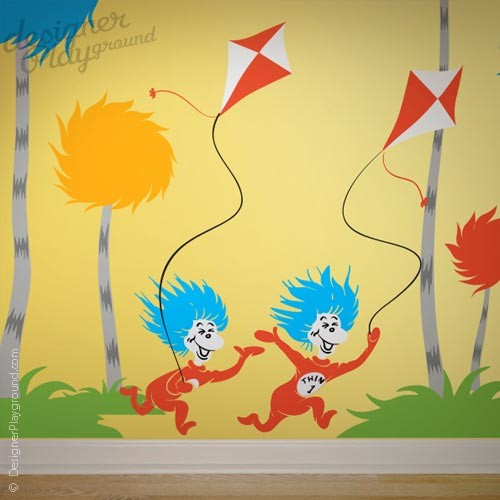 Dr seuss wall decal traditional nursery decor other for Dr seuss wall mural